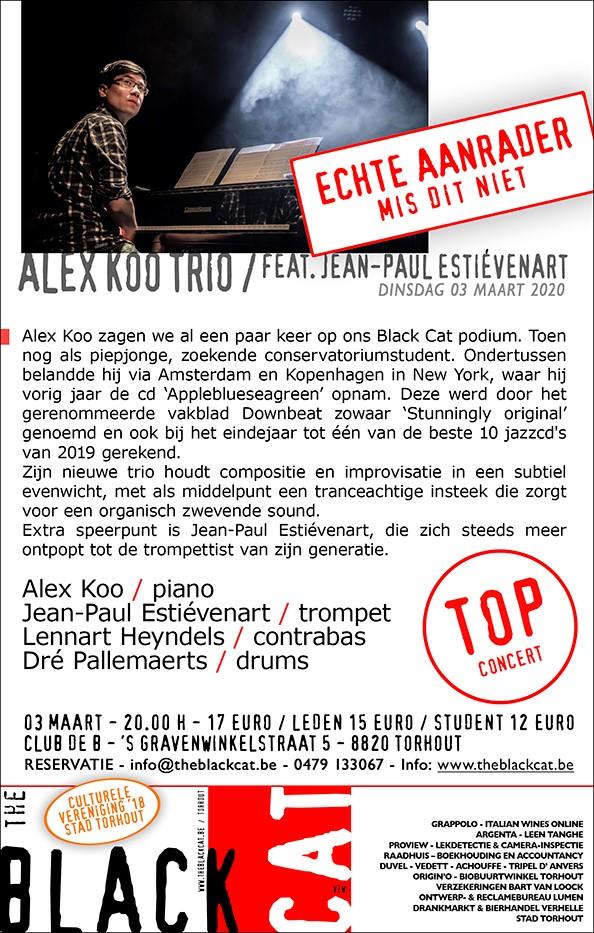 thumbnail-Alex Koo Trio, ft. Jean-Paul Estiévenart in The Black Cat - Een aanrader!